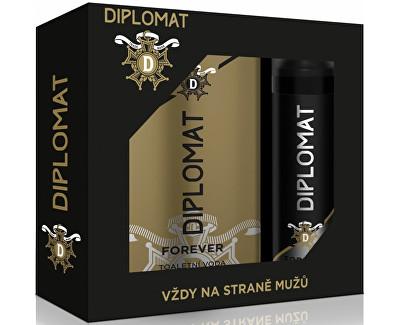 Astrid Diplomat Forever dárková sada toaletní voda a deo sprej pro muže 100 ml + 150 ml