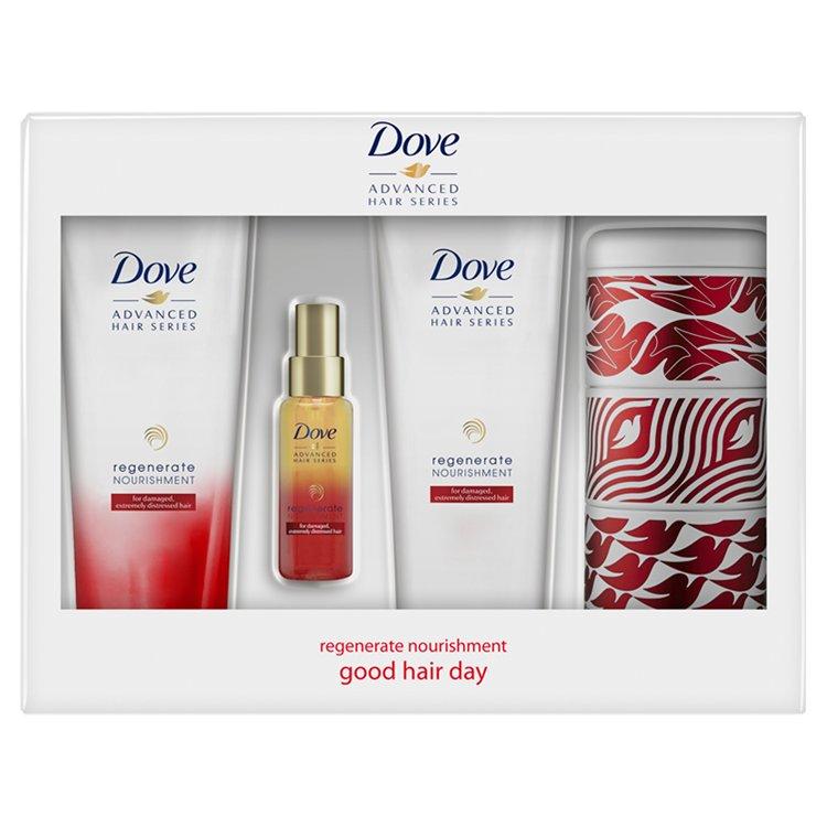 Dove Good Hair Day dárková sada péče o vlasy + plechová krabička