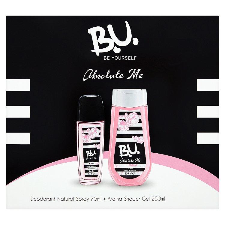 B.U. Absolute Me - deodorant s rozprašovačem + sprchový gel 75 ml + 250 ml