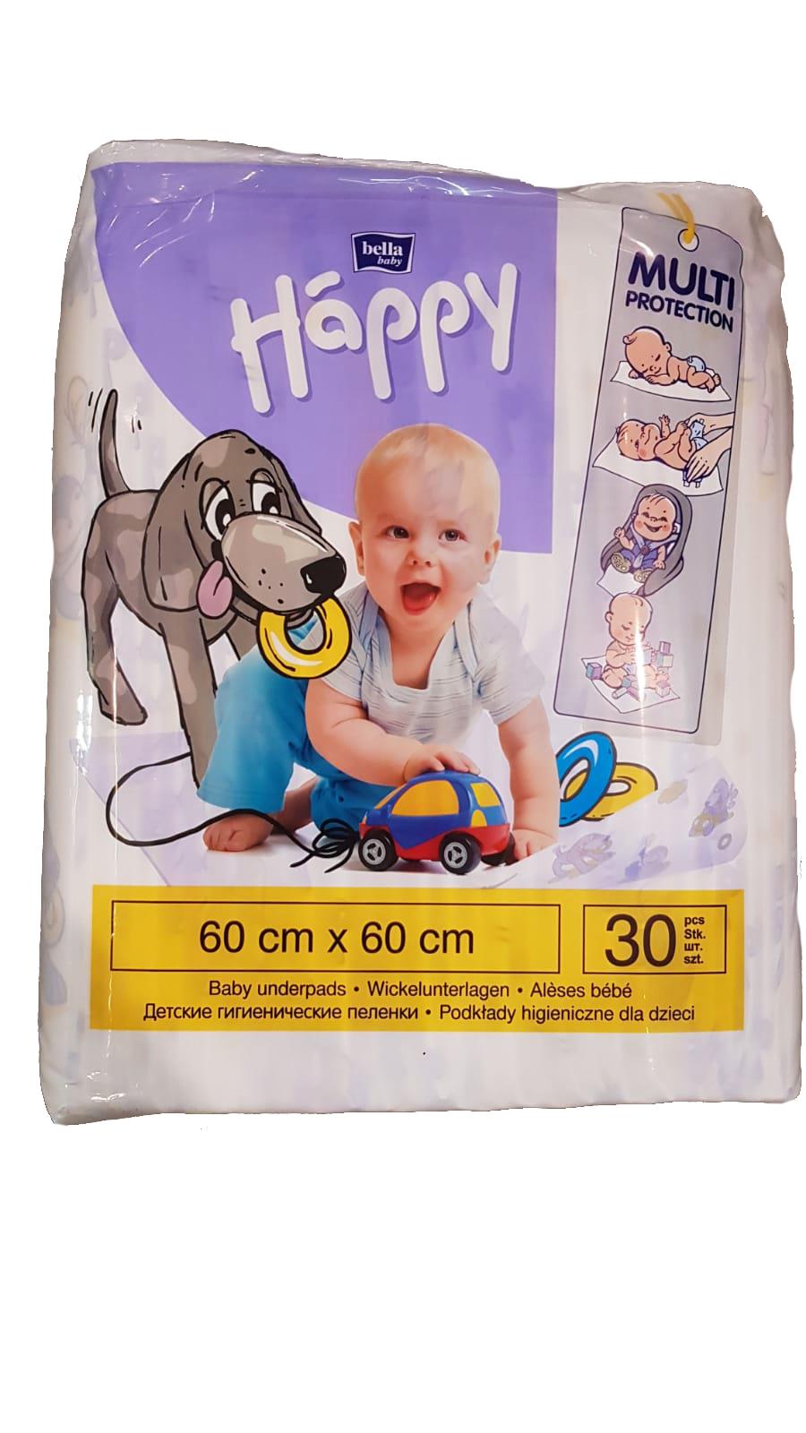Bella Happy hygienické podložky 60 x 60 cm 30 ks