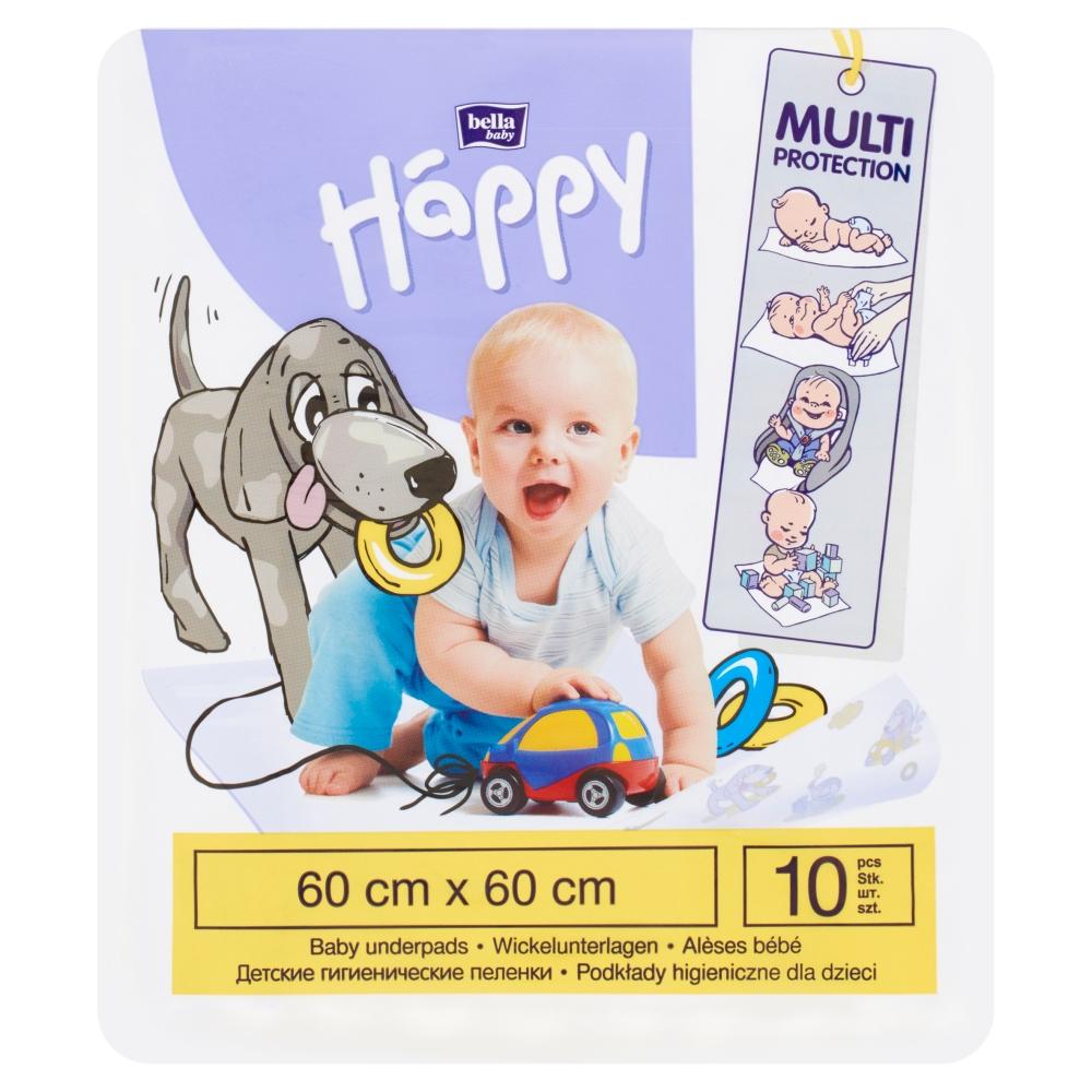 Bella Happy Baby přebalovací podložky 60 x 60 cm 10 ks