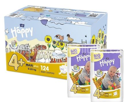 Bella Baby Happy Maxi Plus Box 62ks x 2