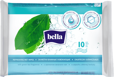 Bella osvěžující vlhčené ubrousky 10 ks