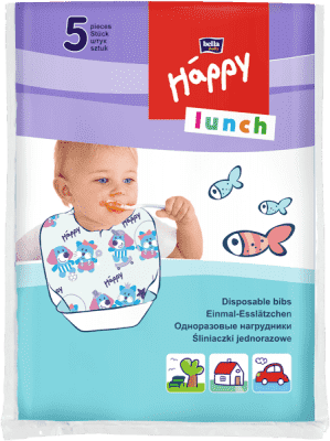 Bella Happy Lunch bryndáček dětský jednorázový 5 ks