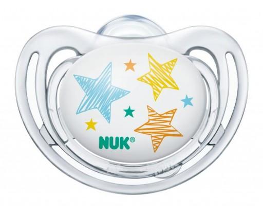 NUK Dudlík Freestyle 6-18 měsíců, hvězdičky