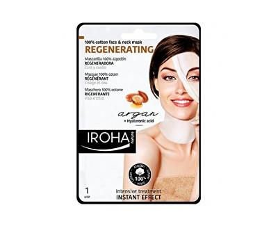 Iroha intenzivní regenerační maska na obličej a krk s arganovým a hyaluronovým sérem 30 ml