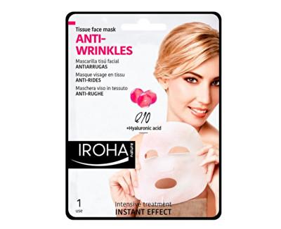 Iroha látková maska proti vráskám s koenzymem Q10 a kyselinou hyaluronovou 23 ml