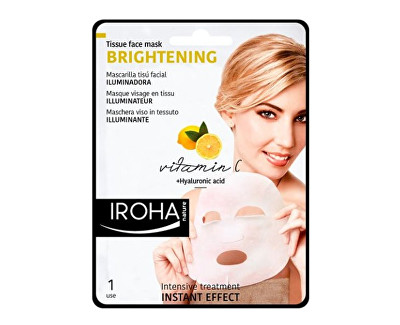 Iroha rozjasňující látková maska s vitamínem C a kyselinou hyaluronovou 23 ml