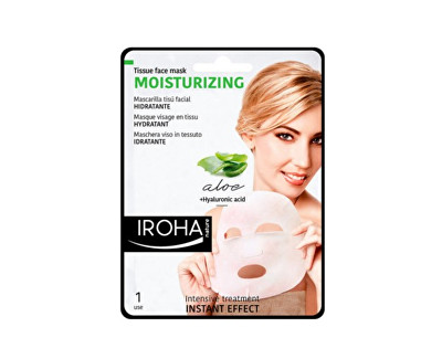 Iroha hydratační látková maska s aloe vera a kyselinou hyaluronovou 23 ml