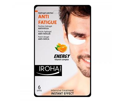 Iroha hydrogelové polštářky pod unavené oči pro muže s vitamínovým komplexem 6 ks