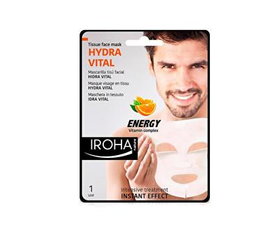 Fotografie Iroha intenzivní látková maska pro muže svitamínovým komplexem 23 ml