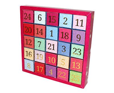 Adventní kalendář 25 kostek - Číselný adventní kalendář