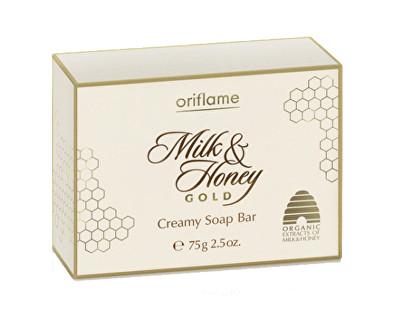 Oriflame krémové mýdlo Milk & Honey Gold 75 g