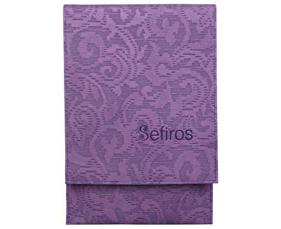 Luxusní pouzdro na kosmetické štětce - fialové