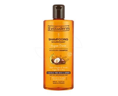 Fotografie Evoluderm Vyživující šampon pro velmi suché a poškozené vlasy s arganovým olejem (Nourishing Shampoo