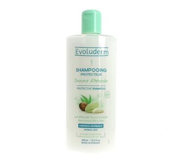 Fotografie Evoluderm Ochranný šampon pro normální vlasy s mandlovým mlékem (Protective Shampoo Doucer d`Amande)