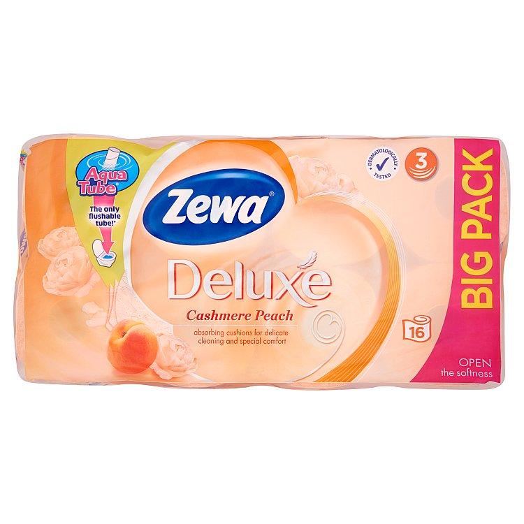 Zewa deluxe cashmere peach toaletní papír, parfémovaný, 3vrstvý 16x150