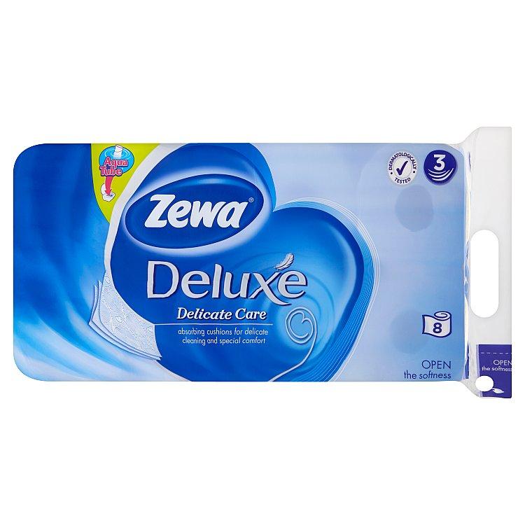 Zewa deluxe delicate care - toaletní papír, bez parfemace, bílý 3vrstvý 8x150