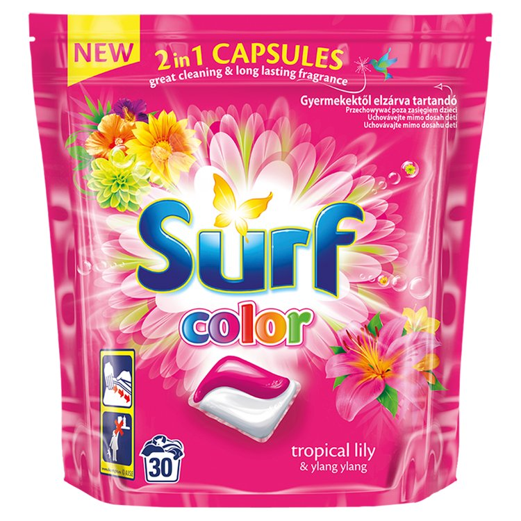 Surf Color duo kapsle na praní vůně tropical 30 kapslí