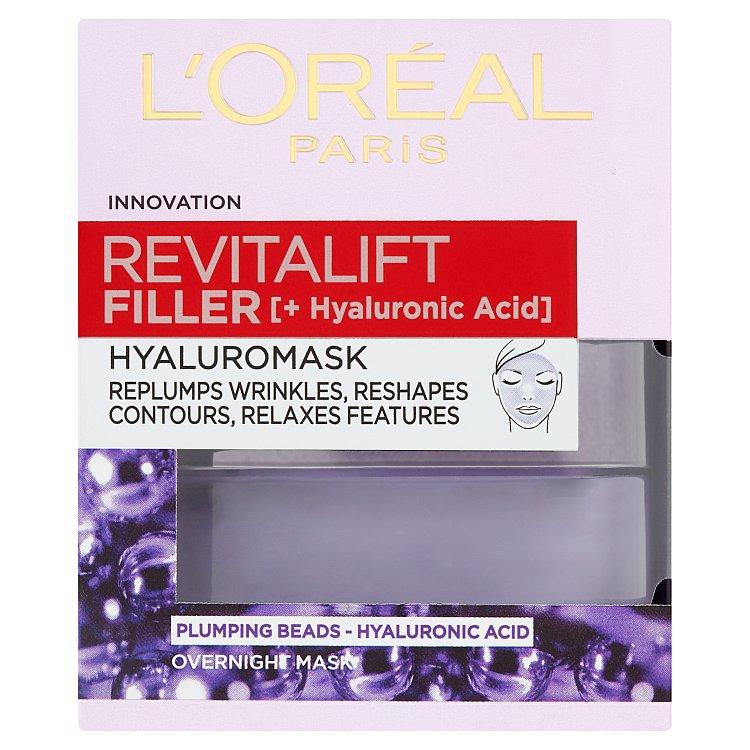 L'Oréal Paris Revitalift Filler pleťová maska proti vráskám s kyselinou hyaluronovou 50 ml