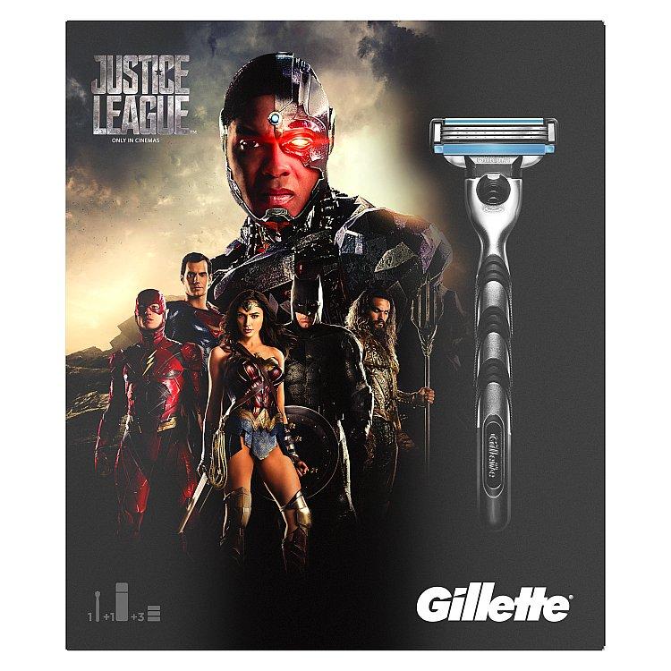 Gillette Limitovaná edice Mach3 Justice League dárková sada pro muže