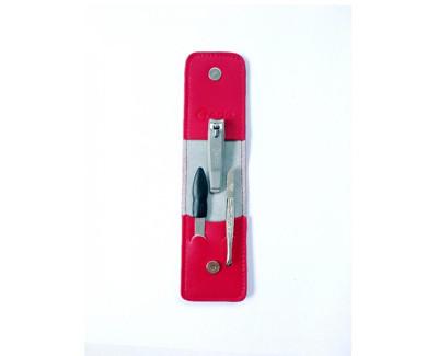 Credo Solingen luxusní 3 dílná manikúra Red II.