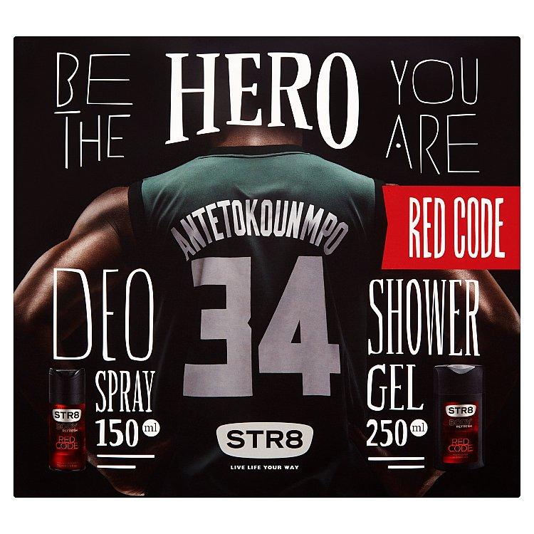 STR8 Red Code dárková sada deodorant a sprchový gel 150 ml + 250 ml