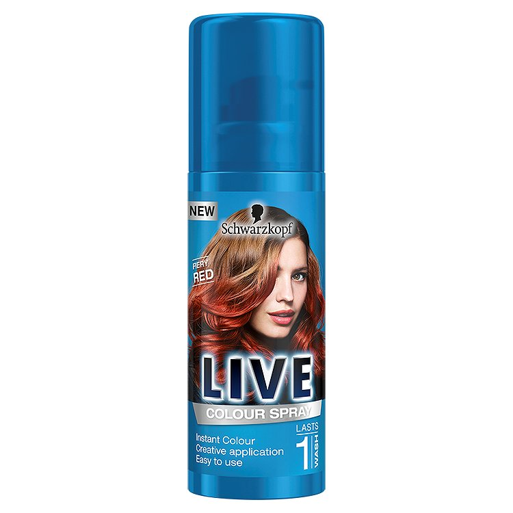 Schwarzkopf Live Color Fiery Red vlasový sprej 120 ml