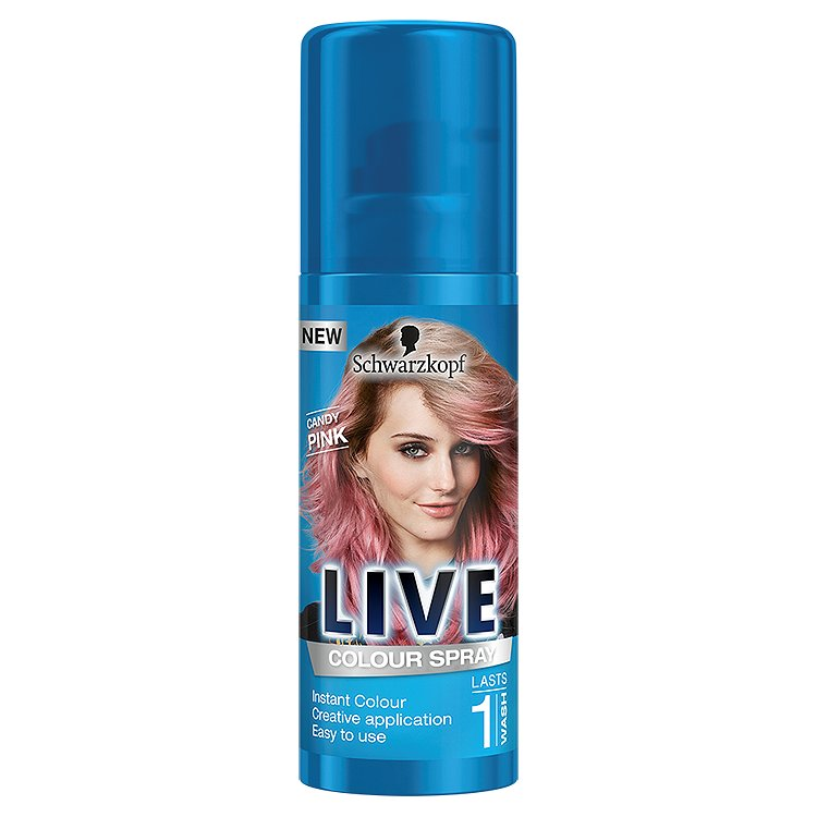 Schwarzkopf Live Color Candy Pink vlasový sprej 120 ml