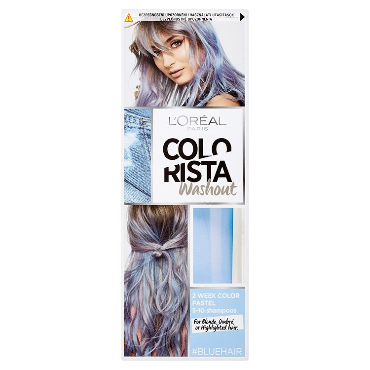 L'Oréal Paris Colorista Washout vymývající se barva Blue Hair