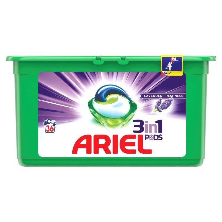 Ariel Lavender Fresh gelové kapsle, 36 praní 36 ks
