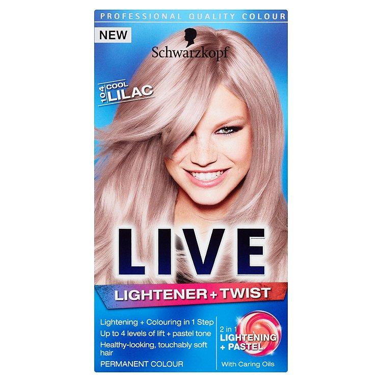 Schwarzkopf Live Lightener & Twist barva na vlasy Cool Lilac 104 50 ml