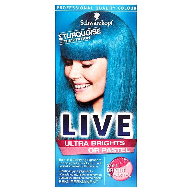 Schwarzkopf Live Ultra Brights or Pastel barva na vlasy Turquise Temptation 096 50 ml