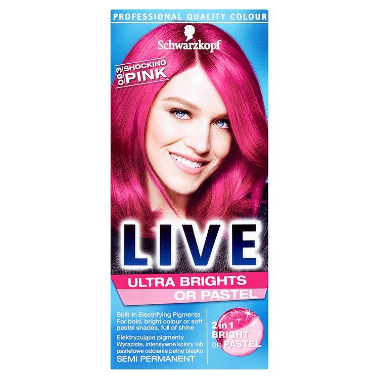 Schwarzkopf Live Ultra Brights or Pastel barva na vlasy Shocking Pink 093 50 ml