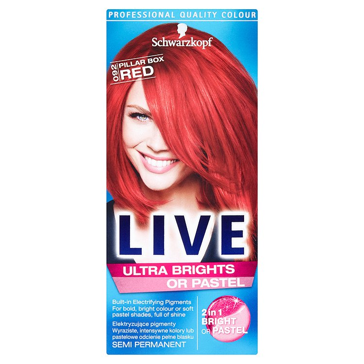 Schwarzkopf Live Ultra Brights or Pastel barva na vlasy Red 92 50 ml