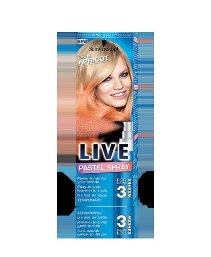 Schwarzkopf Live Pastel Spray Pastel Apricot barva na vlasy 125 ml