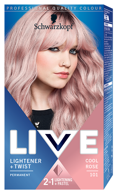 Schwarzkopf Live Lightener   Twist barva na vlasy Cool Rose 101 50 ml 179090b2859