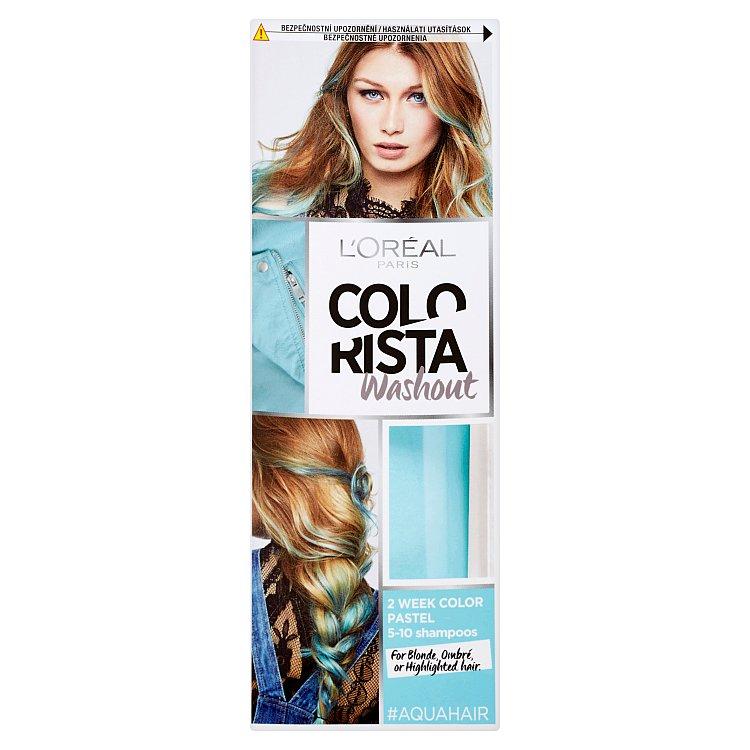 L'Oréal Paris Colorista Washout vymývající se barva Aqua Hair
