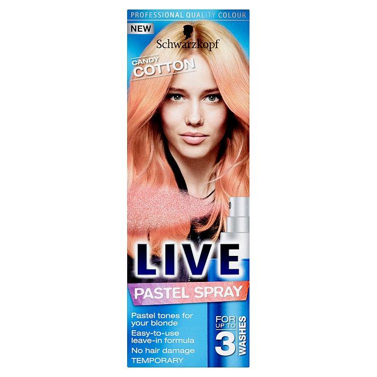 Schwarzkopf Live Pastel Spray Candy Cotton barva na vlasy 125 ml