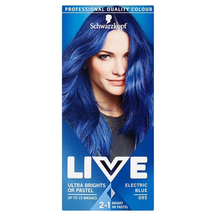 Schwarzkopf Live Ultra Brights or Pastel barva na vlasy Electric Blue 095 50 ml