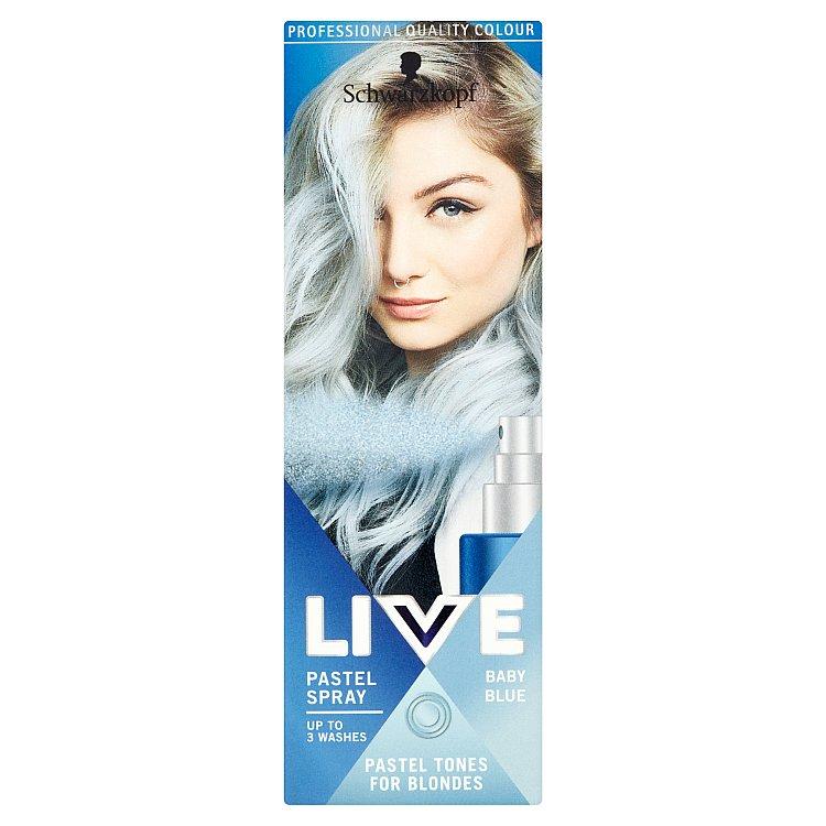 Schwarzkopf Live Pastel Spray Baby Blue barva na vlasy 125 ml