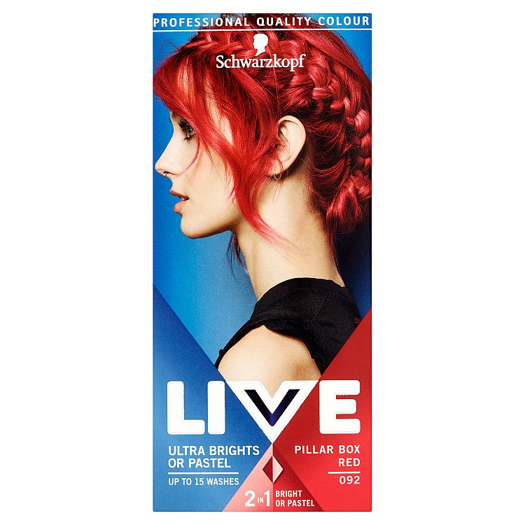 Schwarzkopf Live Ultra Brights or Pastel barva na vlasy Red 92 50 ml fc70210a617