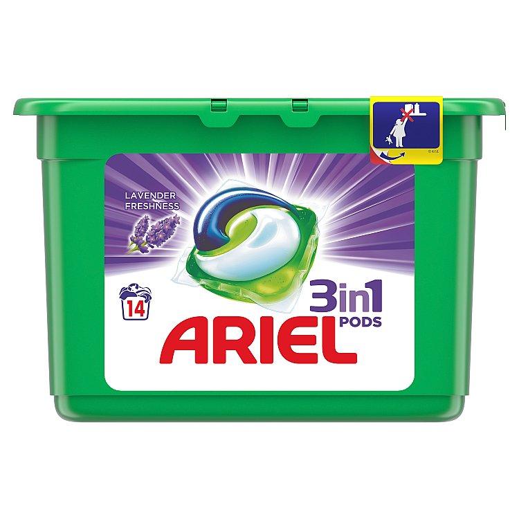 Ariel Lavender Fresh gelové kapsle, 14 praní 14 ks