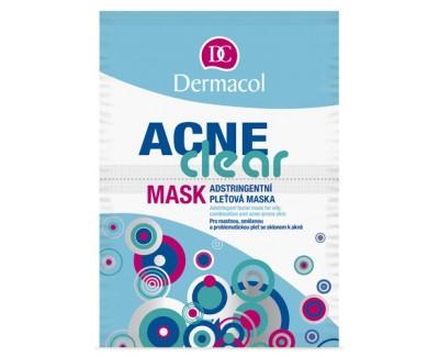 Fotografie Dermacol Acneclear pleťová maska stahující póry 2x 8 g