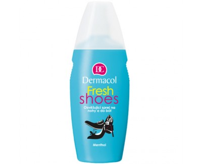 Fotografie Dermacol Fresh Shoes Osvěžující sprej na nohy a do bot 130 ml