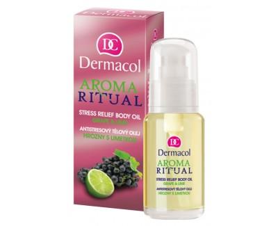 Fotografie Dermacol antistresový tělový olej Hrozny s Limetkou 50 ml