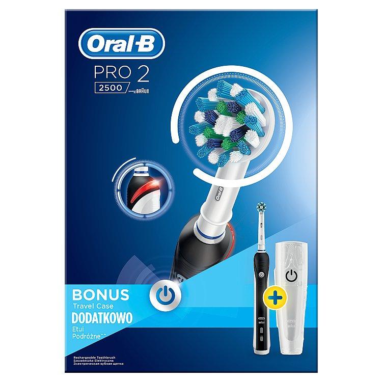 Elektrický zubní kartáček Pro 2500 CrossAction + cestovní pouzdro