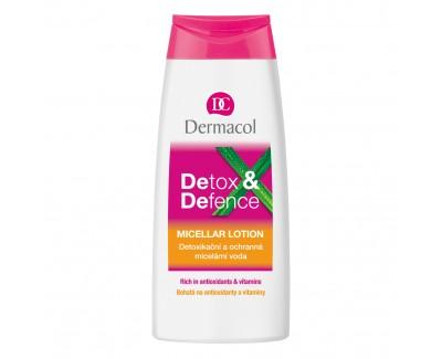 Fotografie Dermacol Detox & Defence detoxikační a ochranná micelární voda 200 ml