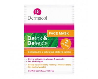 Fotografie Dermacol Detox & Defence detoxikační a ochranná pleťová maska 2x 8 ml