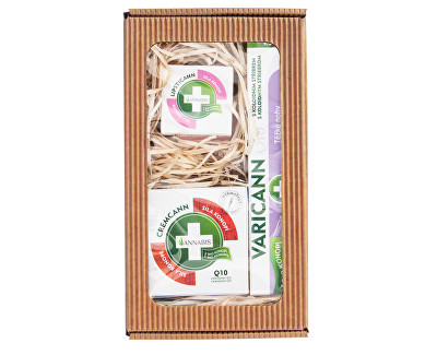 Fotografie Dárkové balení pro těžké nohy - Varicann Q10 + Cremcann Q10 50 ml + Lipsticann 15 ml + Balcann 15 ml